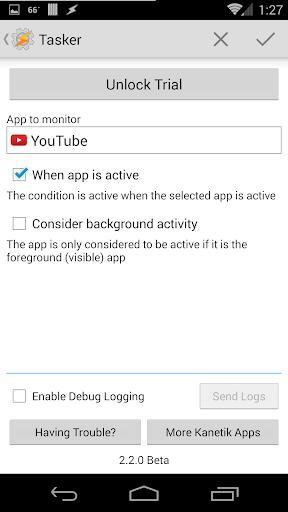 App Detection Trial