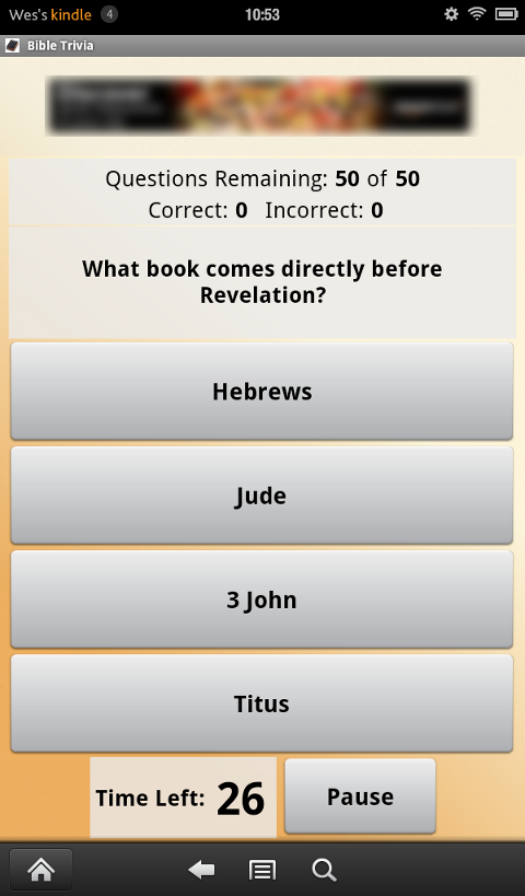 Bible Trivia - screenshot