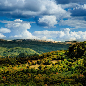slice of heaven by Poloca Tony - Landscapes Mountains & Hills ( clouds, sky, treees, forest, sun )