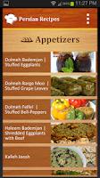 Screenshot of Persian Recipes