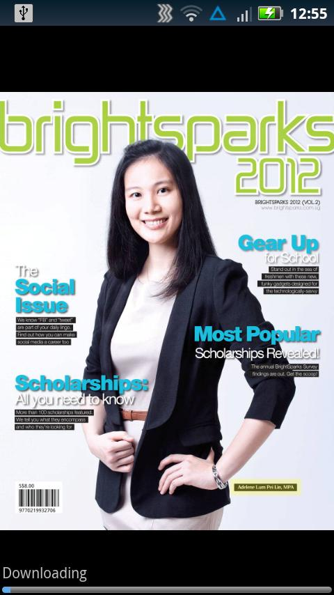 BrightSparks Magazine - screenshot