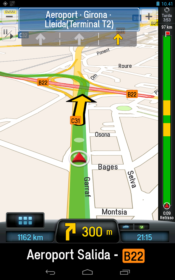 CoPilot Premium Europa GPS App - screenshot