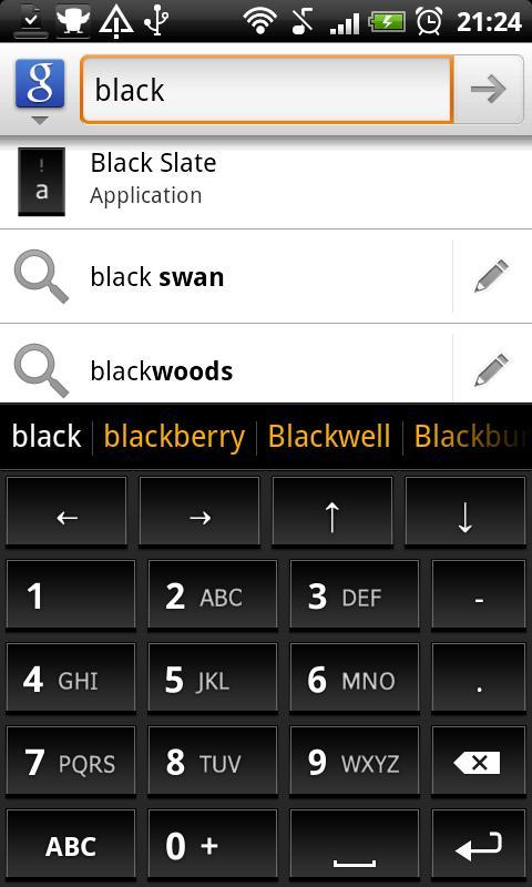 Black Slate - Keyboard Theme - screenshot
