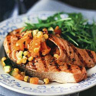 Spiced Grilled Salmon with Sweetcorn Relish Recipe