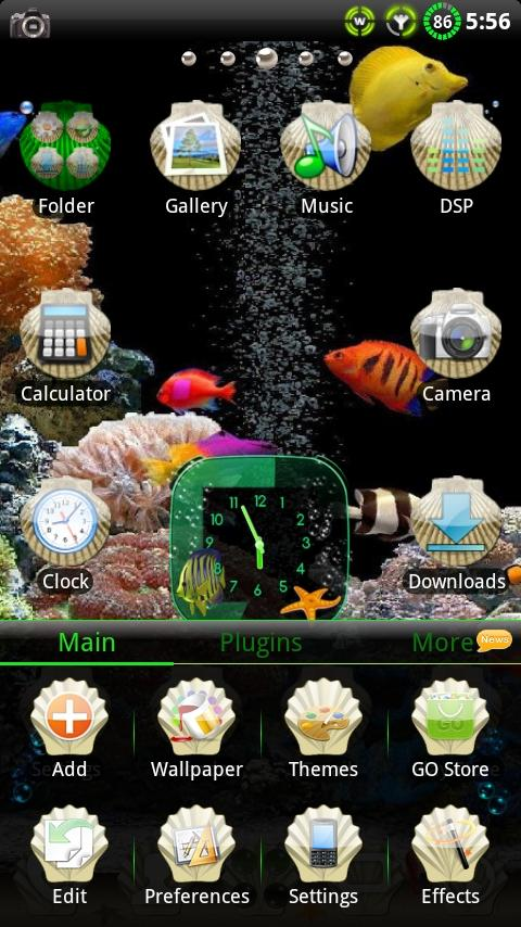 Aquarium GO Launcher EX Theme- screenshot