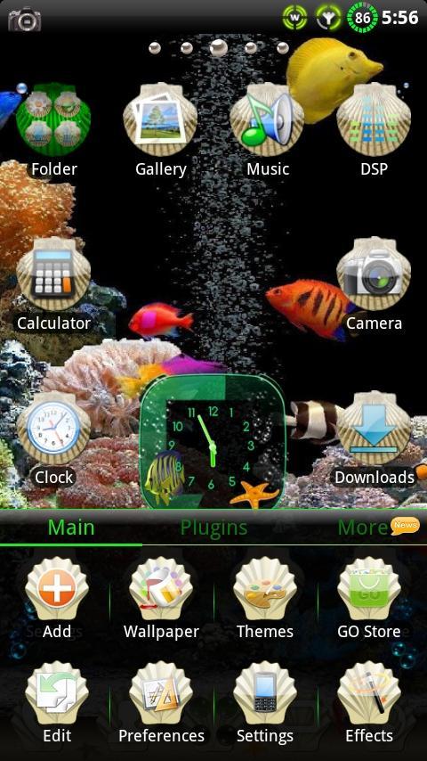 Aquarium GO Launcher EX Theme - screenshot