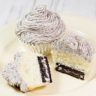 Cake Mix Cookies and Cream Cupcakes .