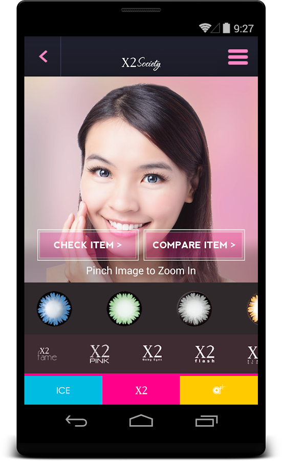 X2 Society: Find your softlens- screenshot