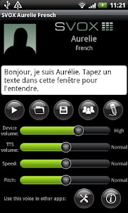 SVOX French Aurelie Voice - screenshot thumbnail