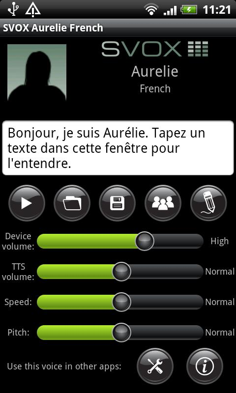 SVOX French Aurelie Voice - screenshot