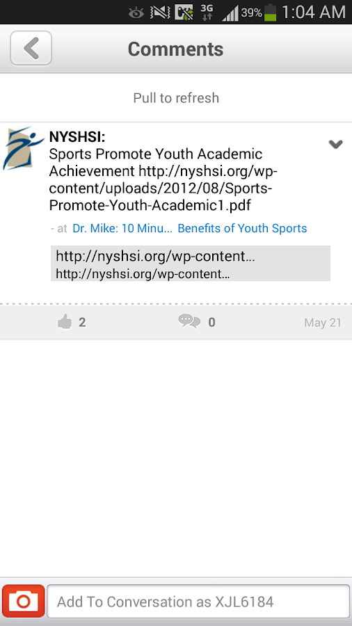 NYSHSI Healthy Youth Sports- screenshot