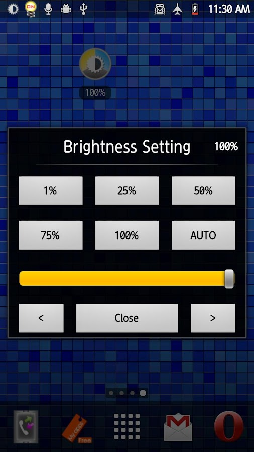 Brightness Scheduler- screenshot