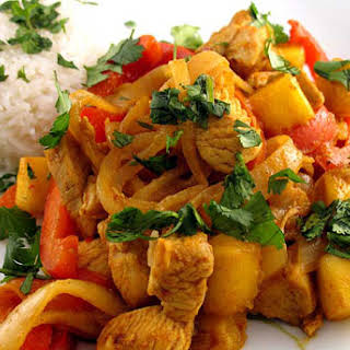 Mango and Red Pepper Chicken recipe – 141 calories.