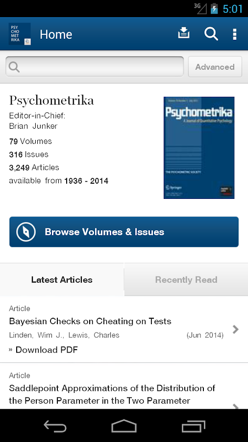 Psychometrika- screenshot