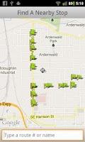 Screenshot of TriMet Tracker
