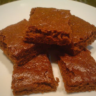 Reduced-fat Brownies.
