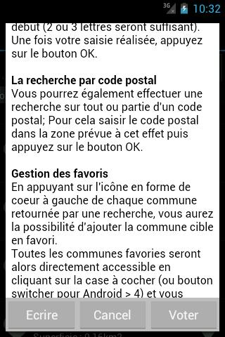 Codes Postaux - screenshot