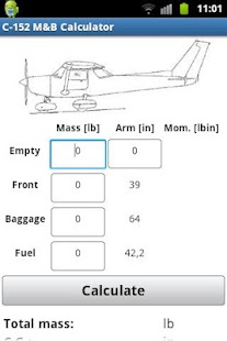 Cessna C-152 Mass & Balance - screenshot thumbnail