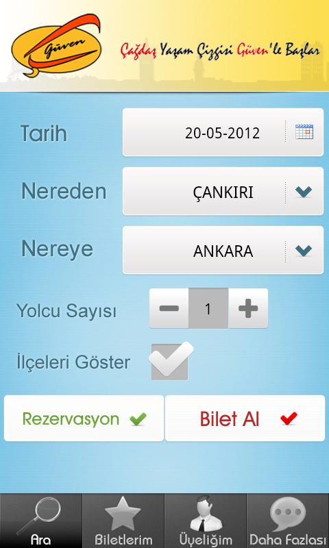 Güven Turizm- screenshot