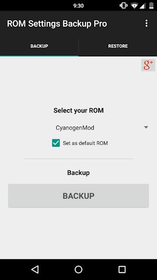ROM Settings Backup Pro- screenshot thumbnail