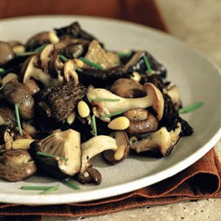 Mixed Spring Mushrooms with Garlic Butter and Pine Nuts