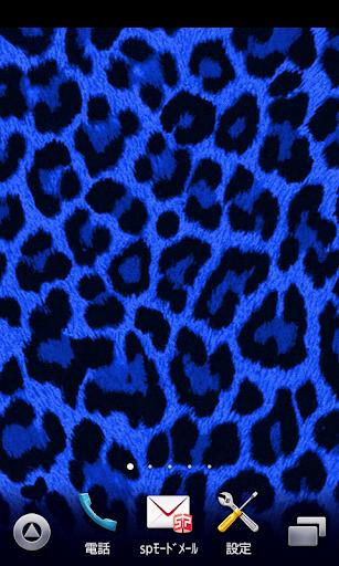 blue leopard wallpaper