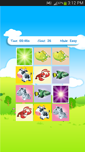 Memory Game Match Objects