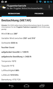 Flugwetter (METAR/TAF) Screenshot