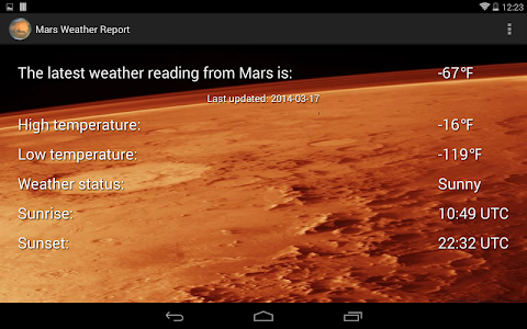 Mars Weather Report screenshot 8