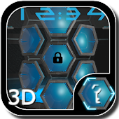 Next 3D Blue Go Locker Theme