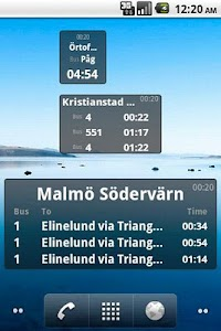 Bus Stop Info Skåne screenshot 1