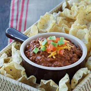 Fiesta Beef and Bean Dip.
