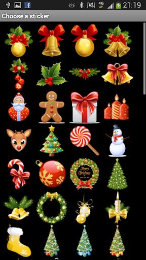 100クリスマスのステッカー
