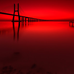under a blood red sky by Paulo Penicheiro - Buildings & Architecture Bridges & Suspended Structures