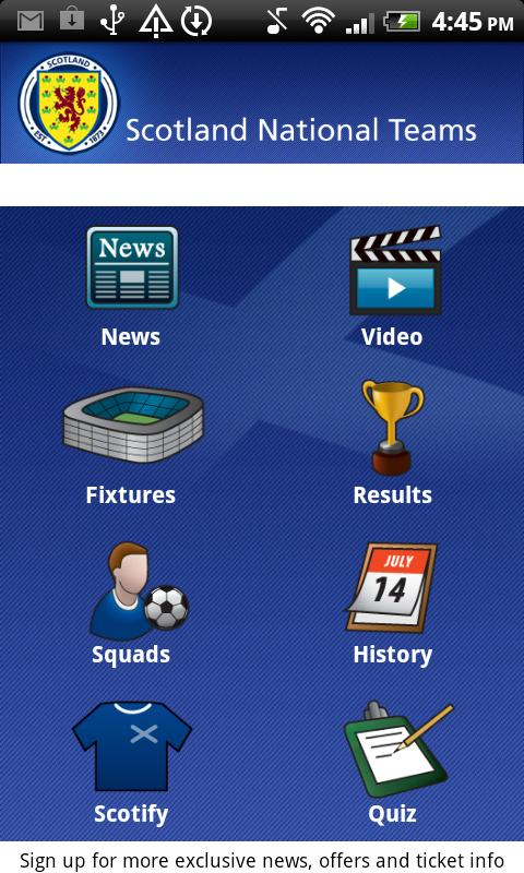 Scotland National Teams - screenshot
