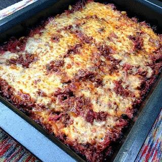 Zucchini Pastitsio (Mediterranean Baked Beef and Pasta Casserole)
