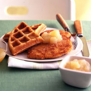 Chicken and Honey-Buttered Waffles.
