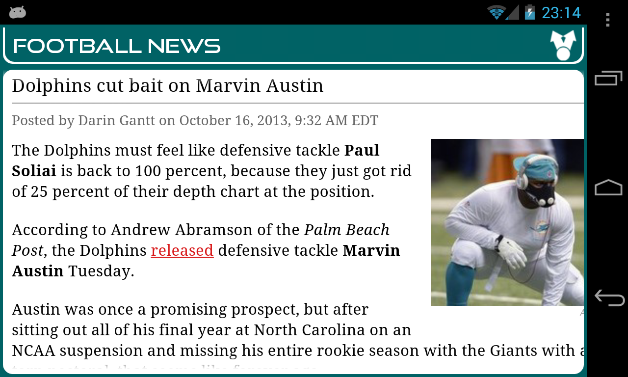 Miami Football News - screenshot