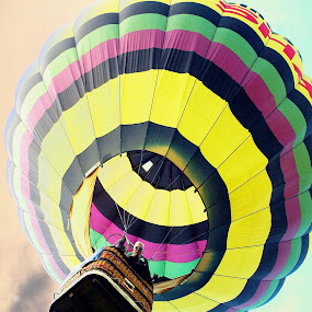 Up, Up and Away by Martin Wheeler - Transportation Other ( balloonride, hotair, floating, hotairballoon, balloon )