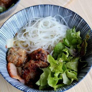 Vietnamese Pork Meatball and Noodle Salad (Bun Cha).