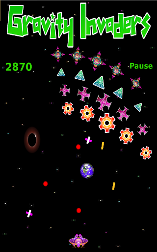 Gravity Invaders in Space