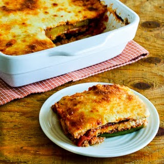 Grilled Zucchini Low-Carb Lasagna with Italian Sausage, Tomato, and Basil Sauce (Gluten-Free).