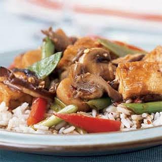 Triple-Mushroom Stir-Fry with Tofu.