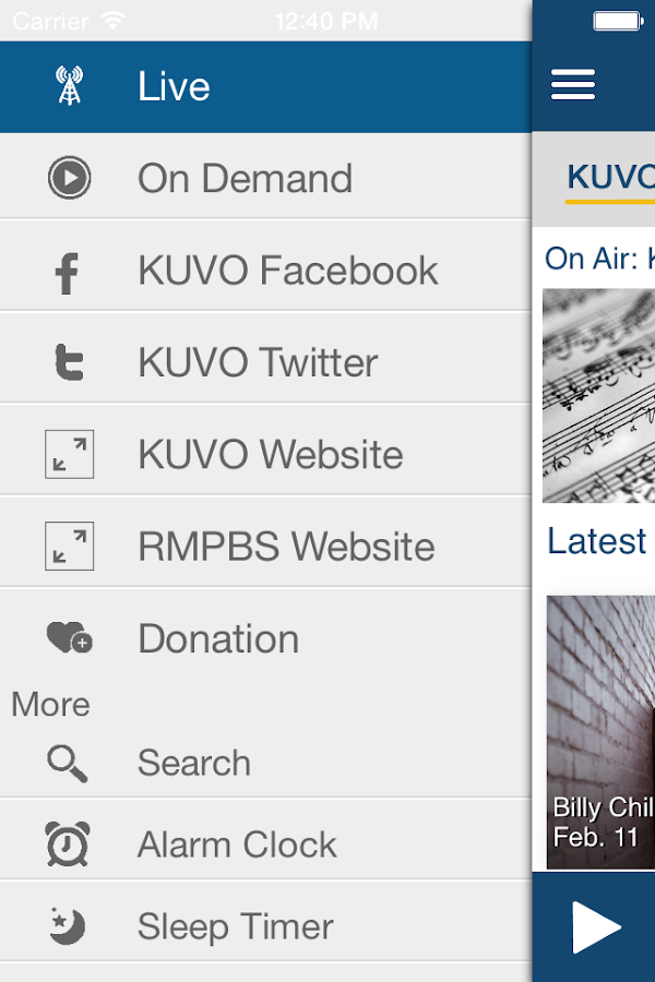 KUVO Public Radio App - screenshot