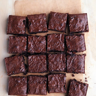Dark-Chocolate Spelt Brownies.