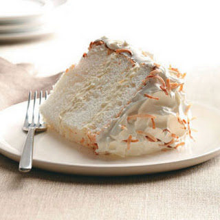 Orange-Coconut Angel Food Cake.