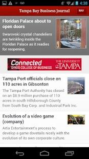 Tampa Bay Business Journal- screenshot thumbnail