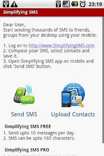 Simplifying SMS - screenshot thumbnail