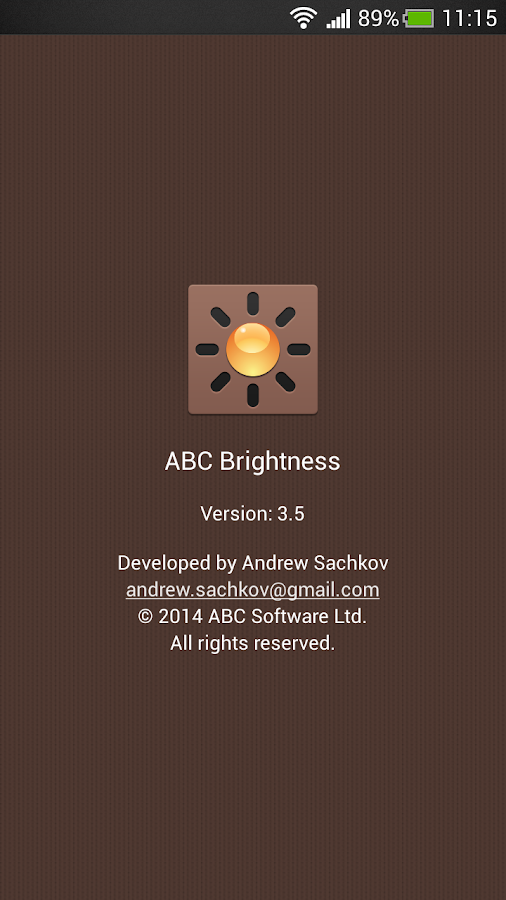 ABC Brightness - screenshot