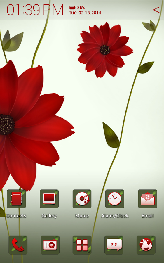 A Flower Atom theme - screenshot